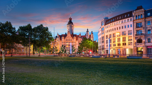 Leipzig Germany Cityscape Image Of Leipzig Downtown With New Town Hall During Beautiful Sunset Buy This Stock Photo And Explore Similar Images At Adobe Stock Adobe Stock