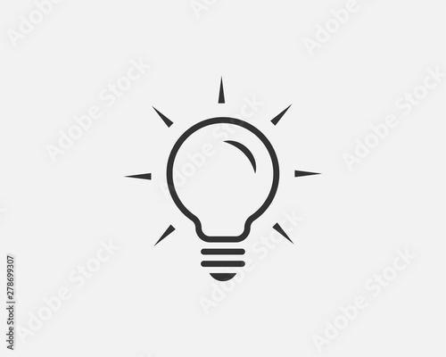 Photo  Light bulb icon vector
