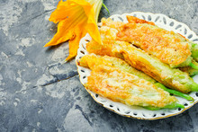 Roasted Zucchini Flowers