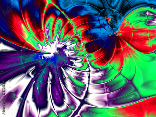 Wall Murals Psychedelic Beautiful abstract background for art projects, cards, business, posters. 3D illustration, computer-generated fractal