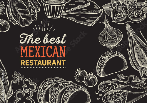 Mexican food illustrations ...