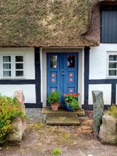 Traditional Home On The Island Lyoe In The Danish Archipelago Near Funen, Denmark