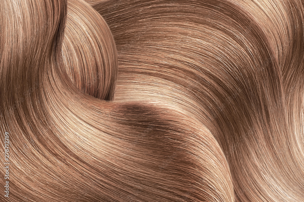 Fototapety, obrazy: Brown shiny hair as background