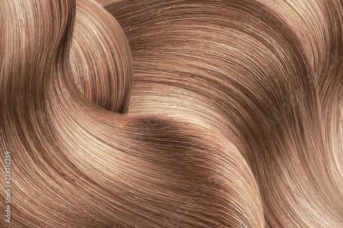 Fotografie, Obraz  Brown shiny hair as background