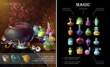 Cartoon Game Elements Composit...