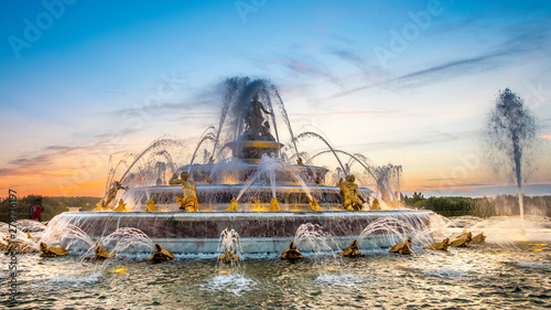 Poster de jardin Paris Versailles gardens with Latona fountain