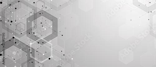 Fotografía Abstract hexagon background