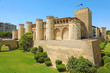 Aljaferia Palace in Zaragoza, a medieval castle built in 11th during Islamic domination of the Spain