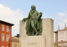 Statue Of Goya In The Center O...