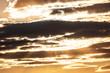 Leinwandbild Motiv the sky at sunset