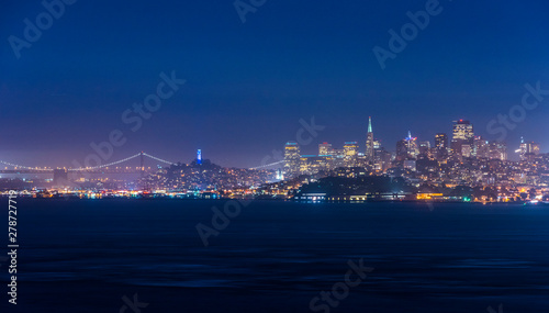 Evening skyline of San Francisco
