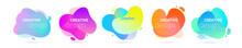 Color Gradient Abstract Liquid Shape, Vector Halftone Pattern Background. Fluid Color Splash Gradient Overlap Halftone Graphic Background