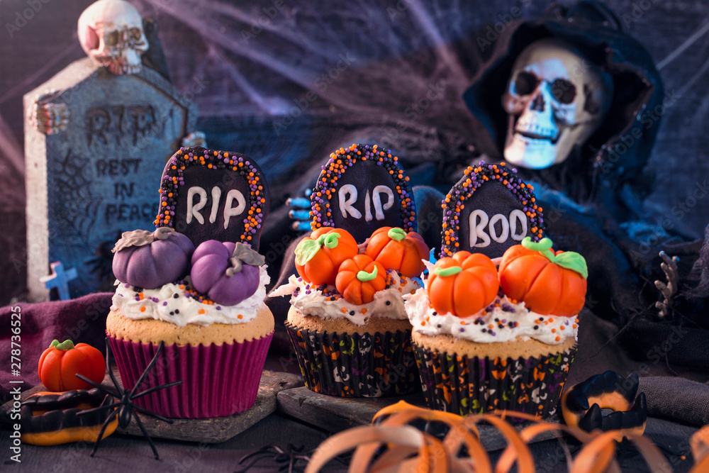 Fototapety, obrazy: Sweets for halloween party