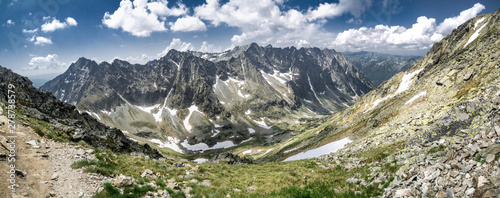 Fototapeta View from Koprovsky stit to High Tatras obraz