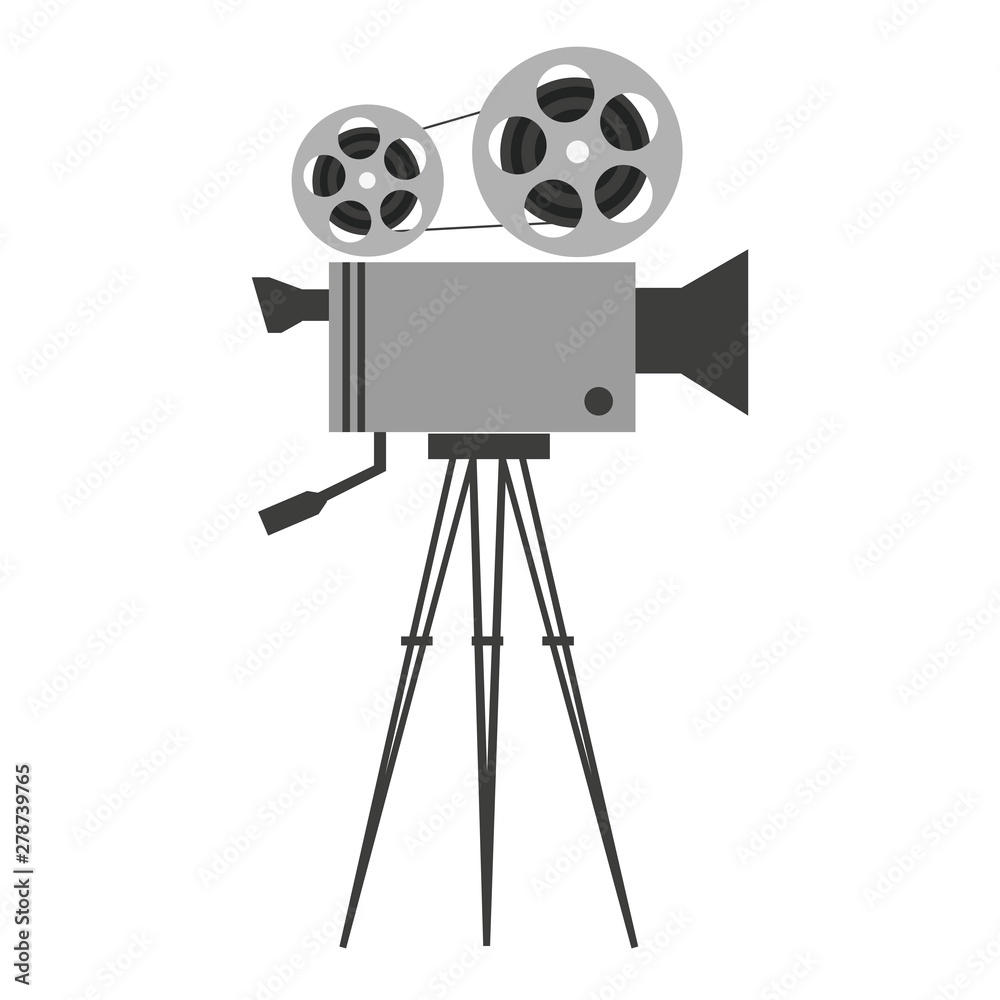 Fototapety, obrazy: A illustrated vintage film camera- Vector illustration
