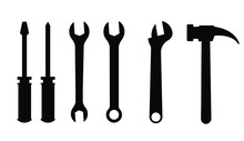 Hand Tools, Hammer, Wrench, Screwdriver, Sliding Wrench