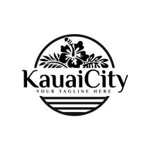 Hawaii And Flower Logo Designs
