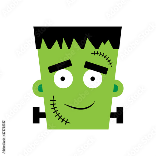 Halloween Frankenstein Vector illustration. Happy