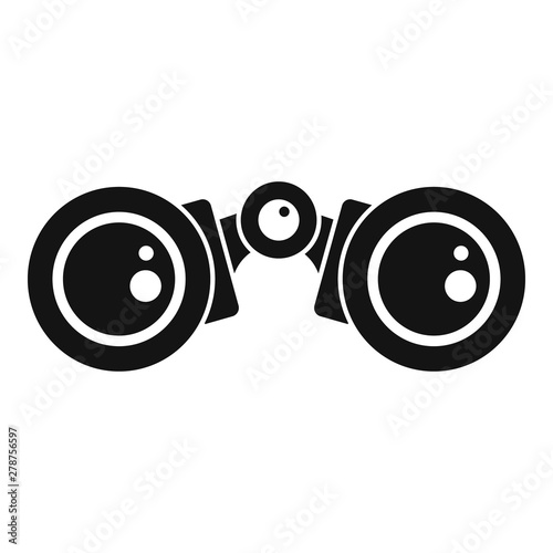 Deurstickers Schepselen Binoculars icon. Simple illustration of binoculars vector icon for web design isolated on white background