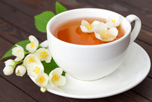 Jasmine Tea With Jasmine Flowe...