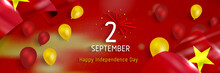 Vietnam National Day Vector (Quốc Khánh). Vietnam Independence Day.