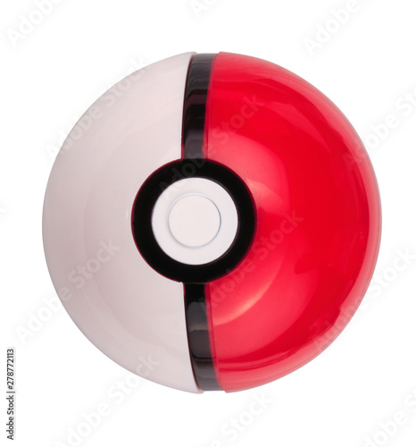 Photo  plastic game toy ball isolated