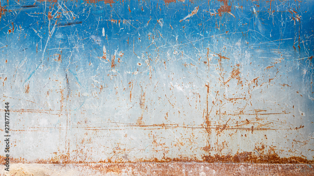 Fototapety, obrazy: Scratched rusty metal wall texture
