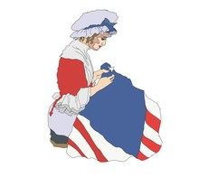 Betsy Ross Sewing American Nat...