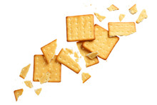 Crushed Dry Crackers, Isolated...