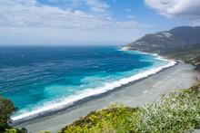 Panoramic View Of Nonza Beach,...