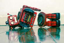 Red Broken Sad Bot