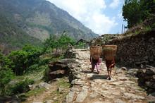 Nepali Women Carrying Baskets ...