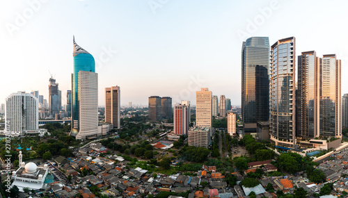 Fotomural  Jakarta downtown district in Indonesia capital city