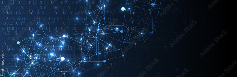 Fototapety, obrazy: Technology background. Big data concept. Vector illustration.
