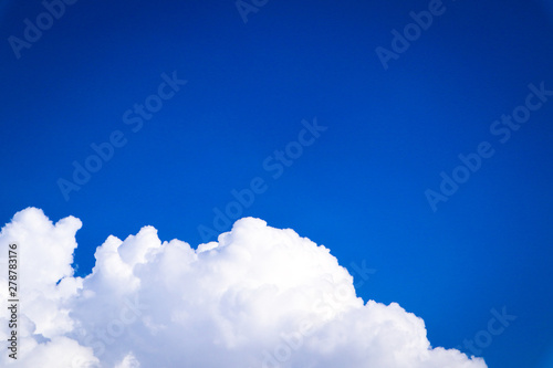 Beautiful abstract cloud and clear blue sky landscape nature background and wallpaper