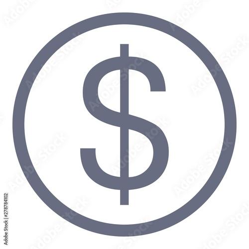 Fényképezés  Dollar sign icon