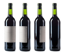 Red Wine Bottle Isolated On A ...