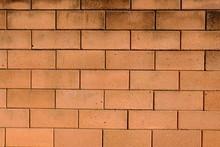Orange Brick Wall Used As A Background Image