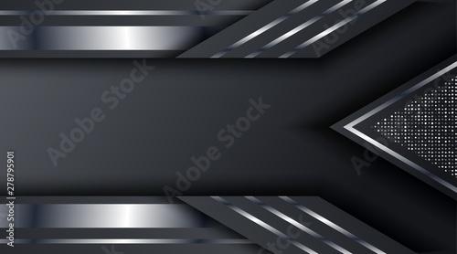 Photo  Dark Metallic Silver Frame Layout Technology Corporate Business Design Backgroun