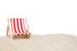 Leinwandbild Motiv hammock on the sand of the secluded white beach