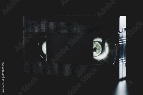Valokuva  black old videotape