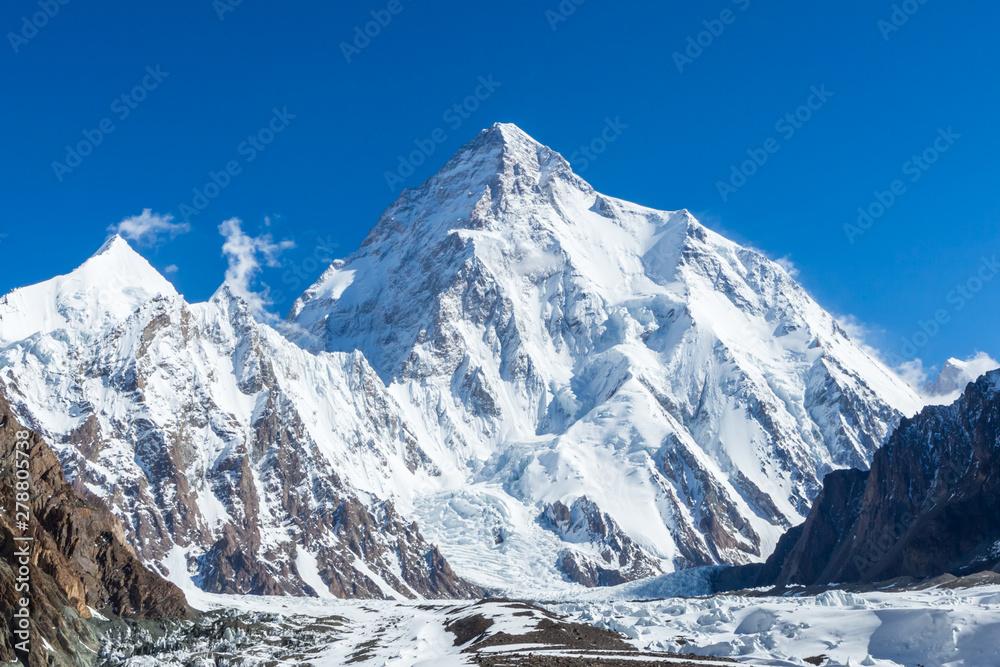 Fototapety, obrazy: K2 mountain peak, second highest mountain in the world, K2 trek, Pakistan, Asia