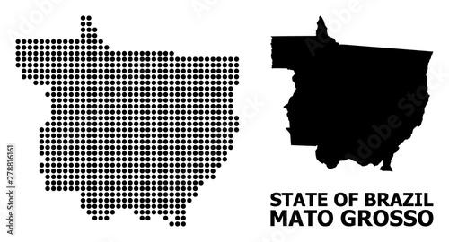 Fotografija  Pixelated Pattern Map of Mato Grosso State