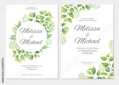 Szkło Hartowane Wedding Floral Watercolor Style Double