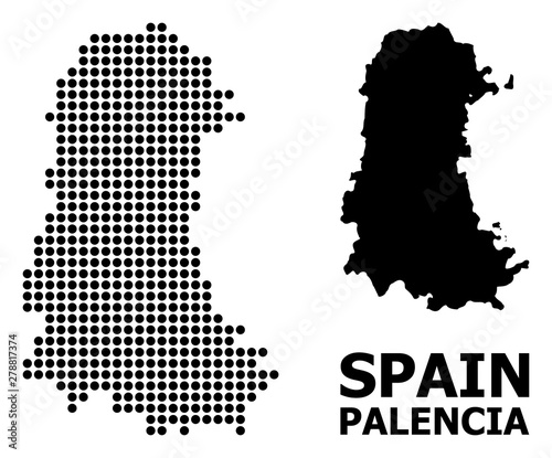 Pixel Pattern Map of Palencia Province