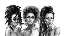 Watercolor African Women