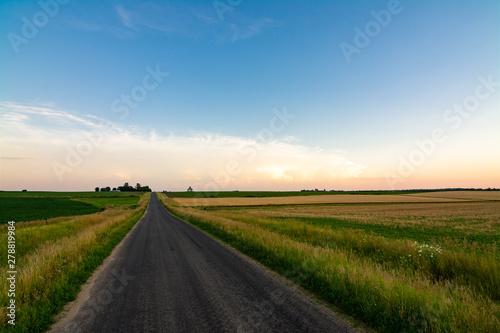 Obraz Open country road - fototapety do salonu