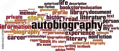Autobiography word cloud Wallpaper Mural