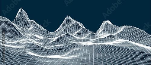 Fotografia  3d technology vector illustration