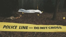 Police Tape And A Victim Of A ...